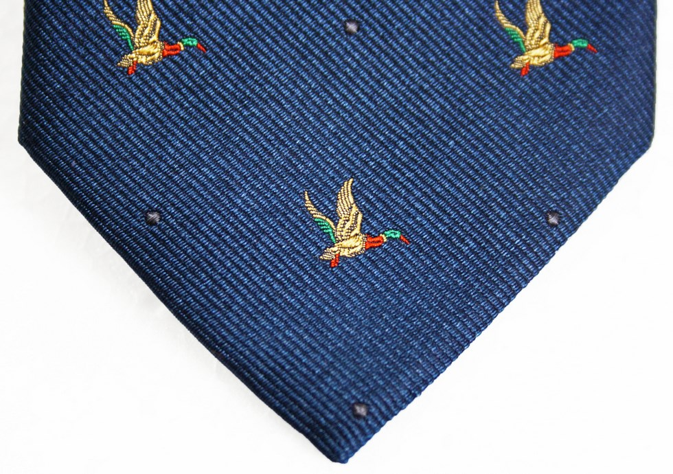 Silk Ties man fantasy duck in flight