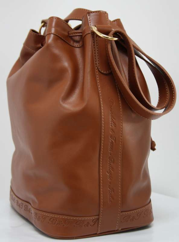 Leather bucket bag - brown B.F03