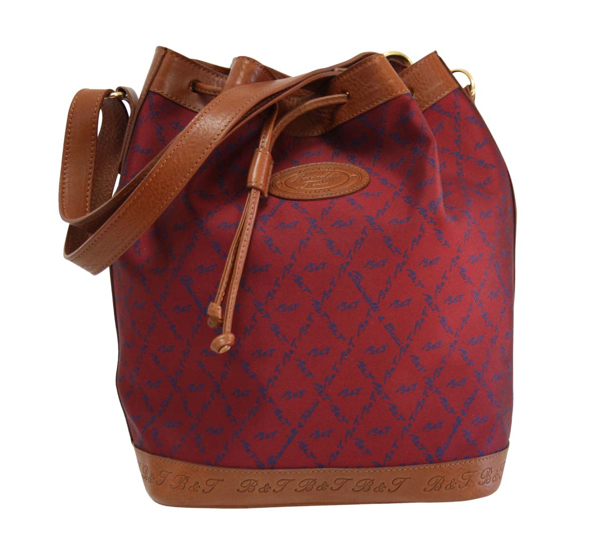 Bucket bag burgundy fabric B.E01