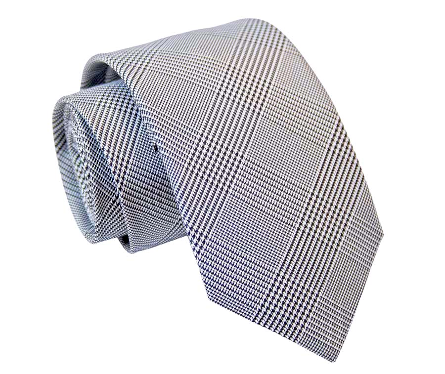 Tie with Prince of Wales pattern - Gray
