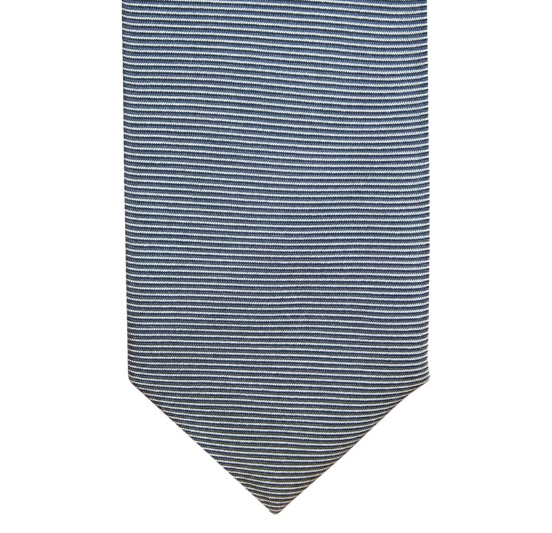 Ceremony tie with horizontal stripes