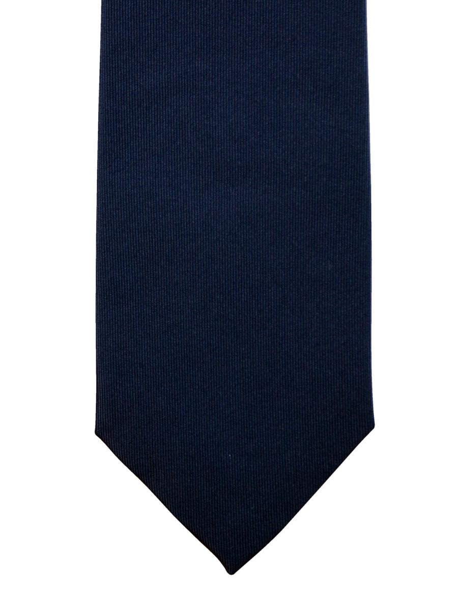 Solid color navy blue ceremony tie