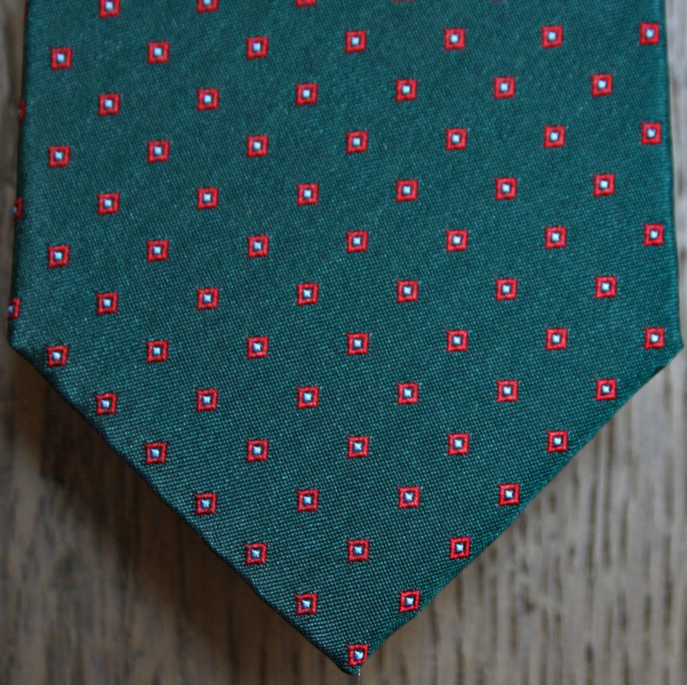 Ties fancy polka dots and squares