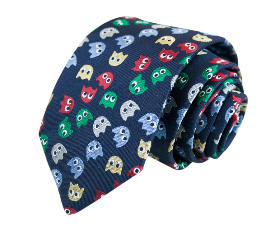 Men's silk tie, Pac-man design