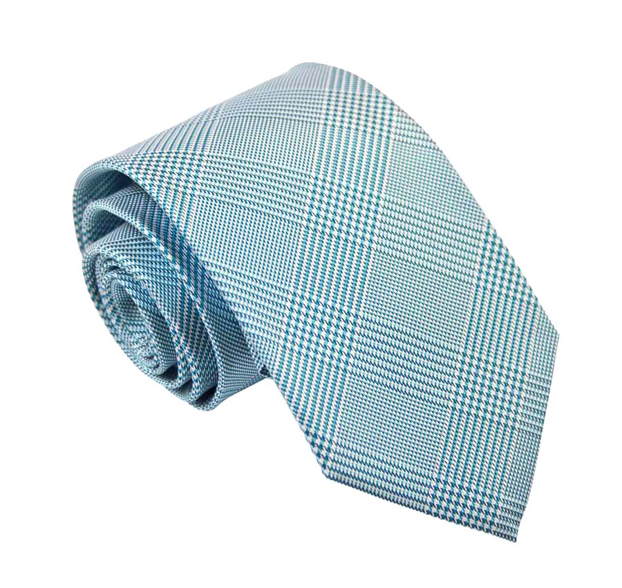 Silk tie with Prince of Wales pattern - Green