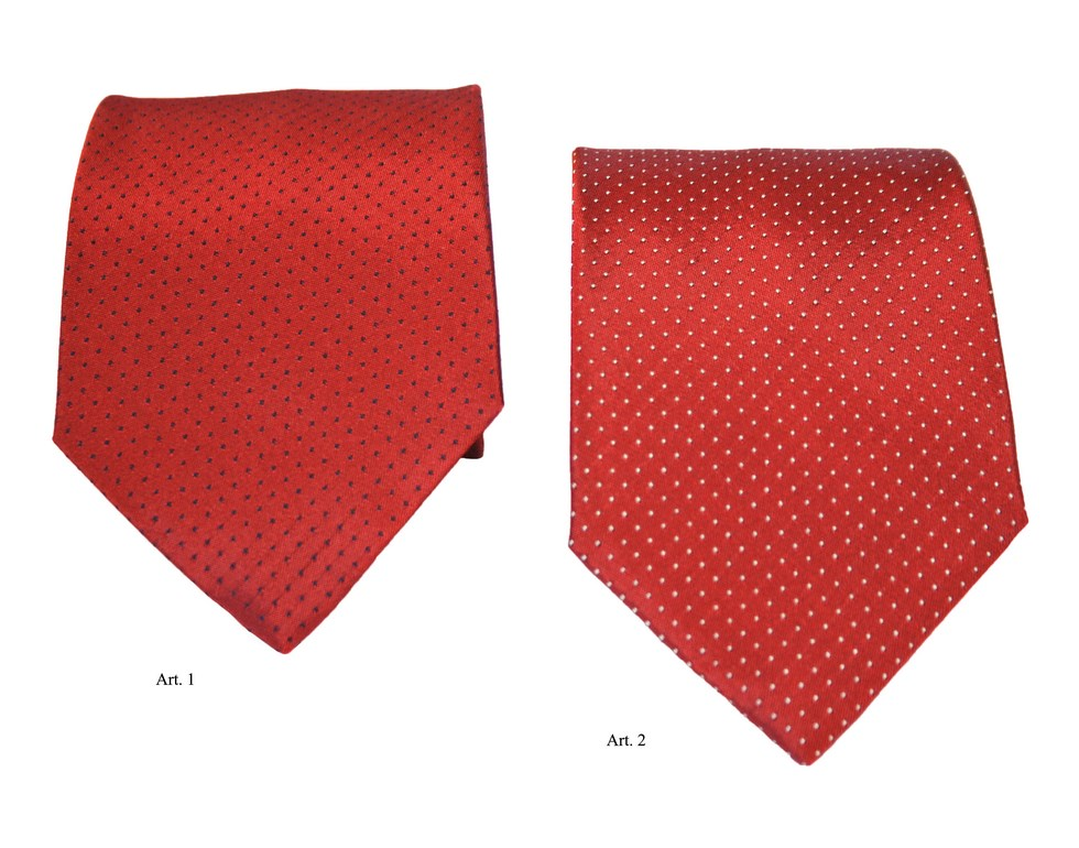 Ties with polka dot design