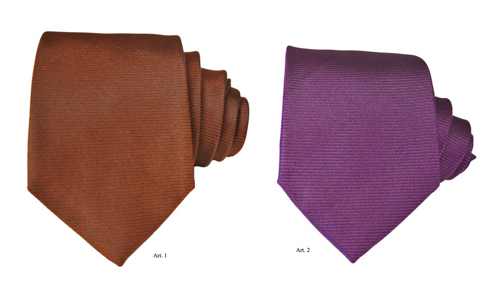 Silk ties with horinzontal stripes