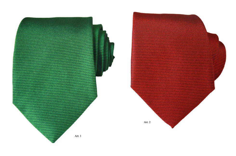 Ties with horizontal stripes red and green