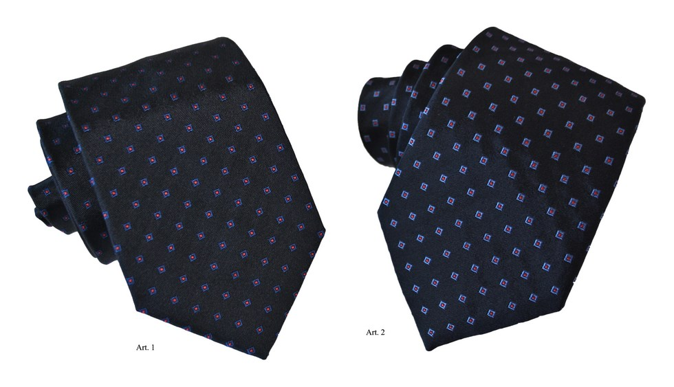 Ties fancy polka dots in a square