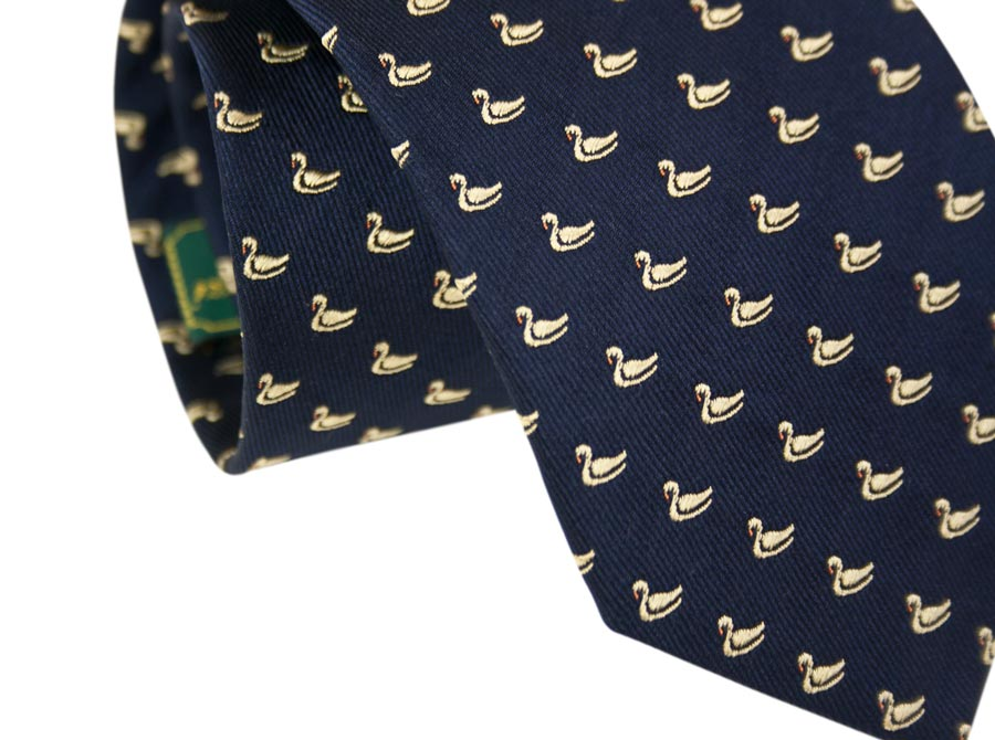 Silk ties, animal design - duck