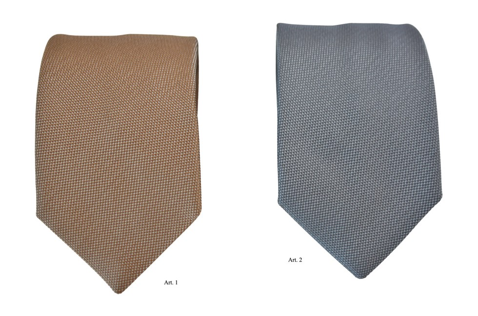 Ties with cross-woven silk