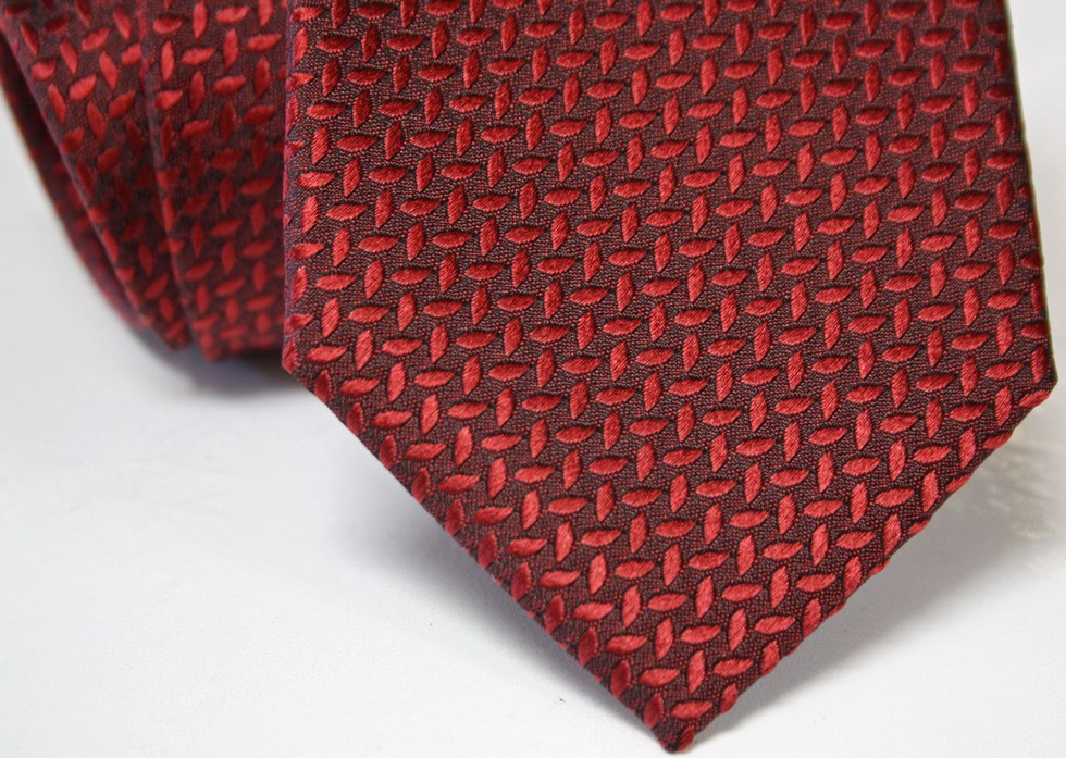 Ties with patterned silk