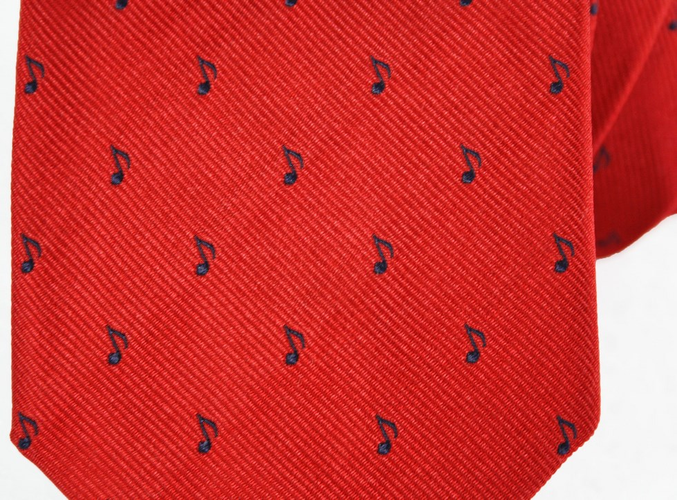Silk Ties man with musical notes