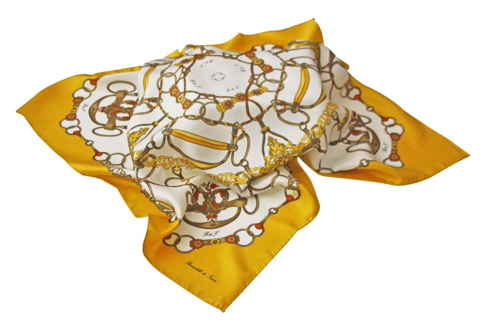 Scarves classic fantasy rings and ropes with yellow border