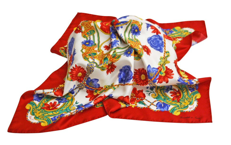 Scarves fantasy flowers - Red