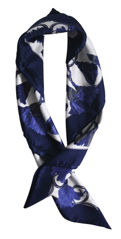 Scarves classic embrasse - blue and white