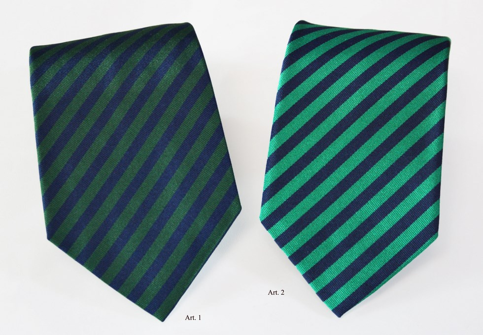 Ties stripes dark green and green with navy stripe