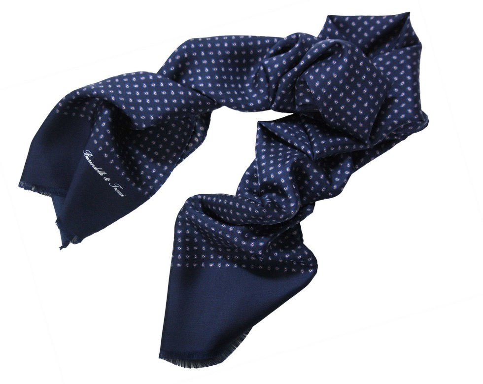 Man silk scarf - Paisley classic small S.AM02