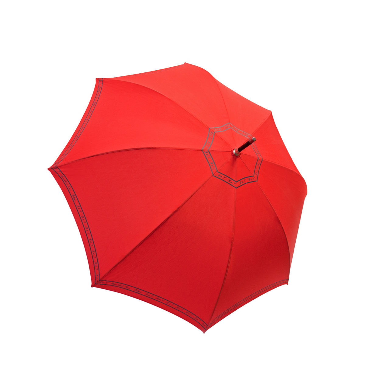 Solid red cotton umbrella
