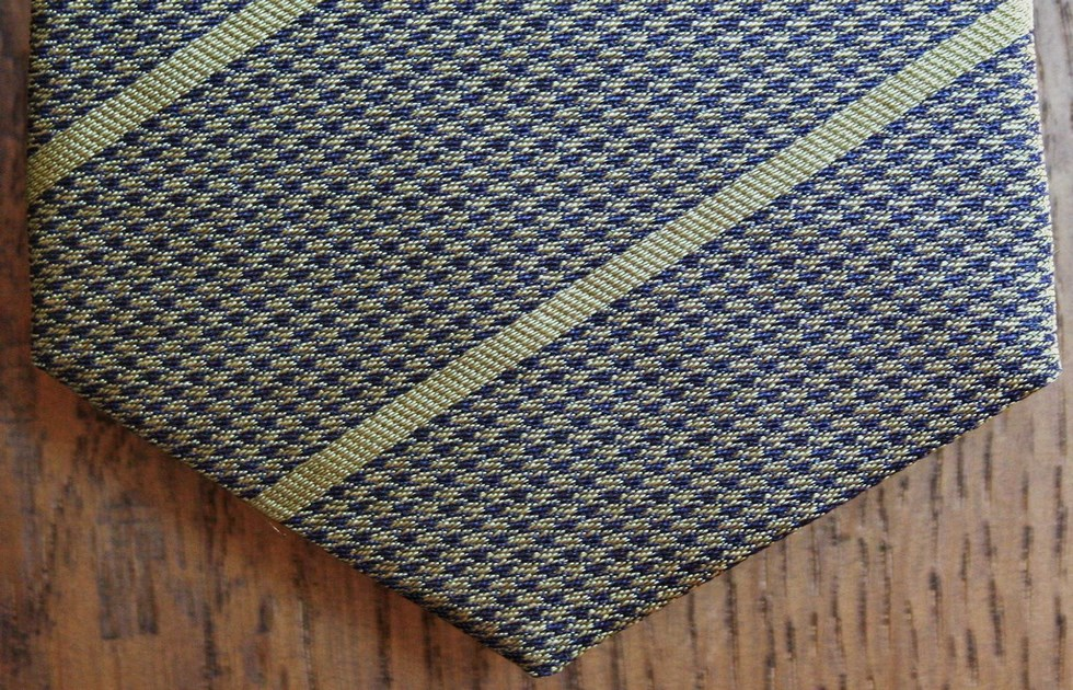 Ties striped with geometric patterns