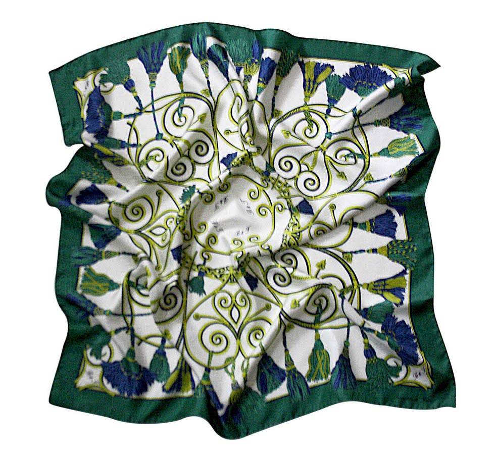 Scarves B & T Classic - Embrasse blue and green
