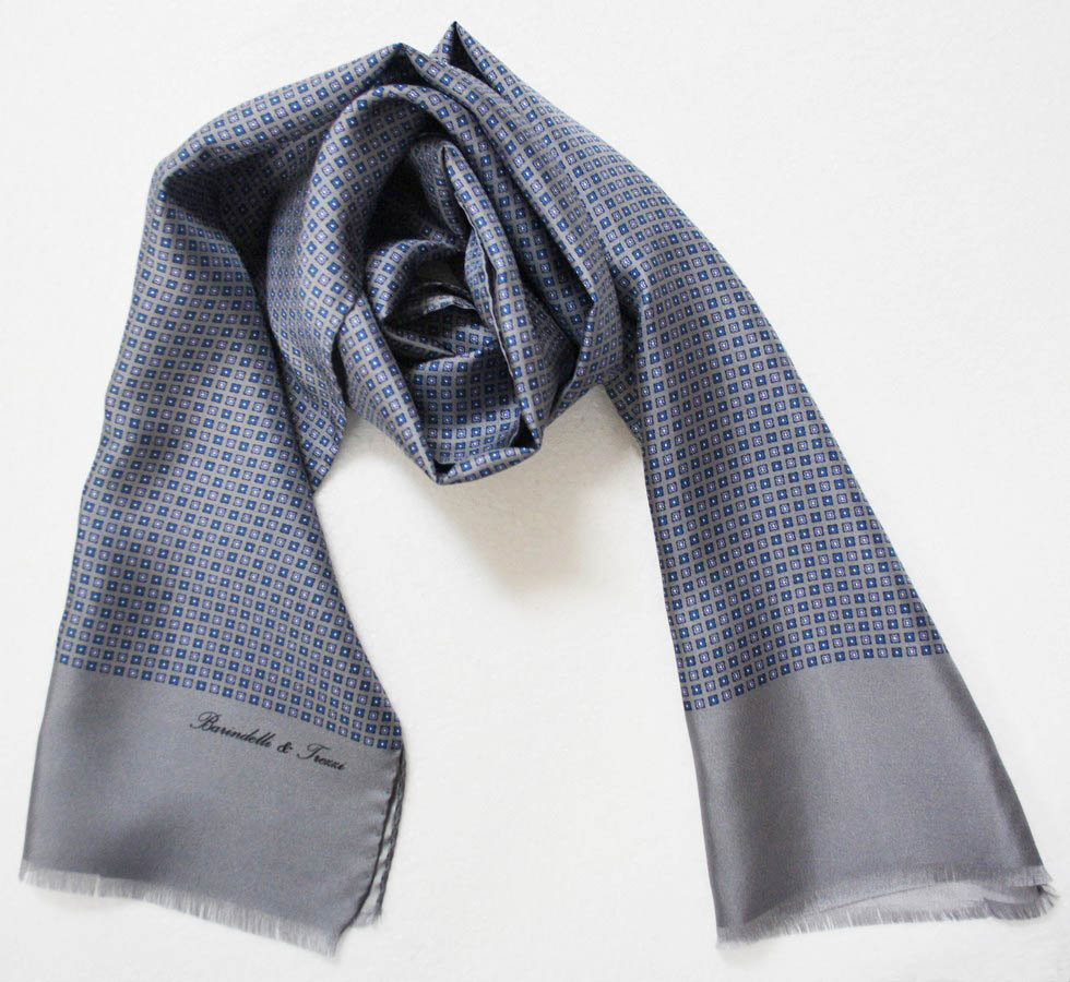 Man silk scarf - des. Geometric classic S.AM07