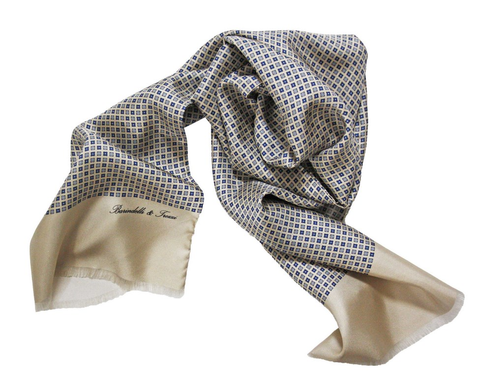 Man silk scarf fancy geometric S.AM04