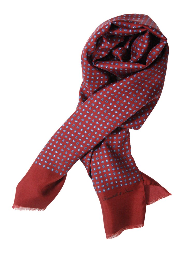 Man silk scarf - Cashmere small S.AM01