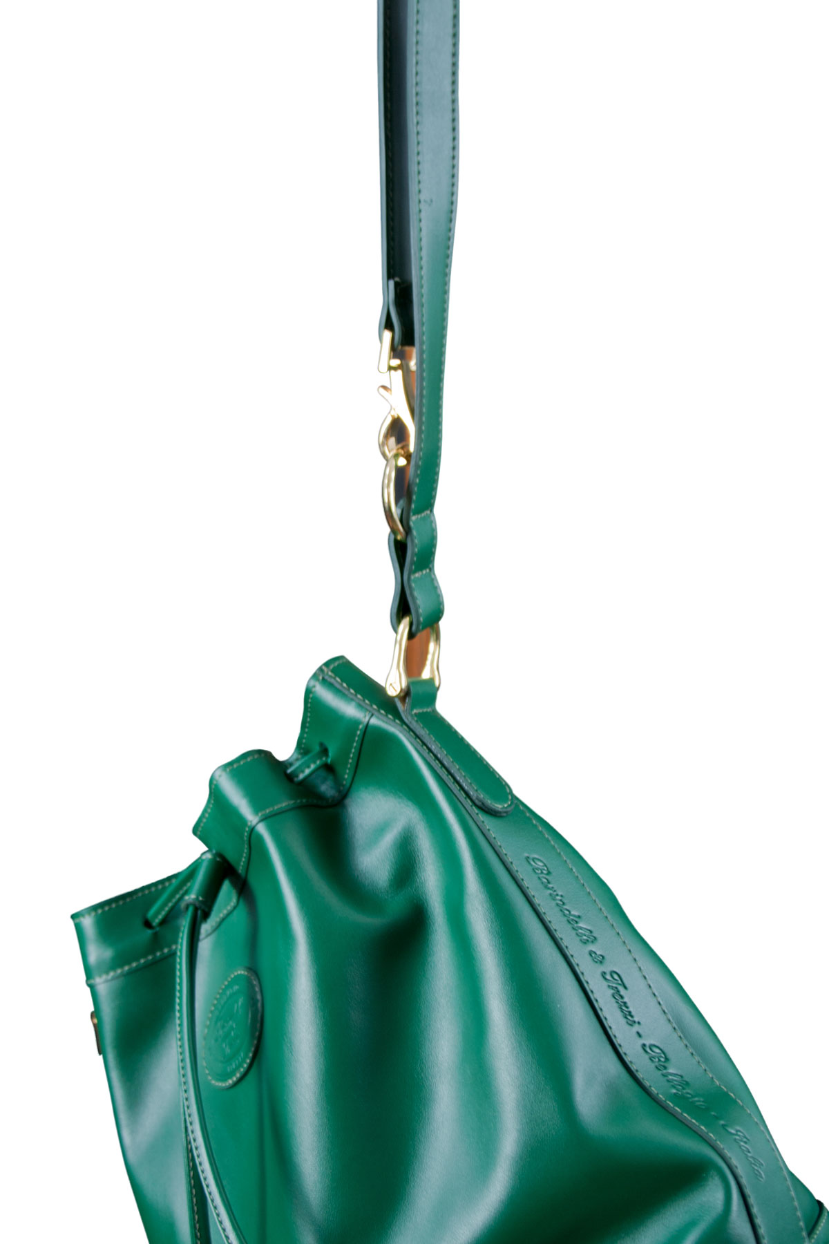 Leather bucket bag - Green