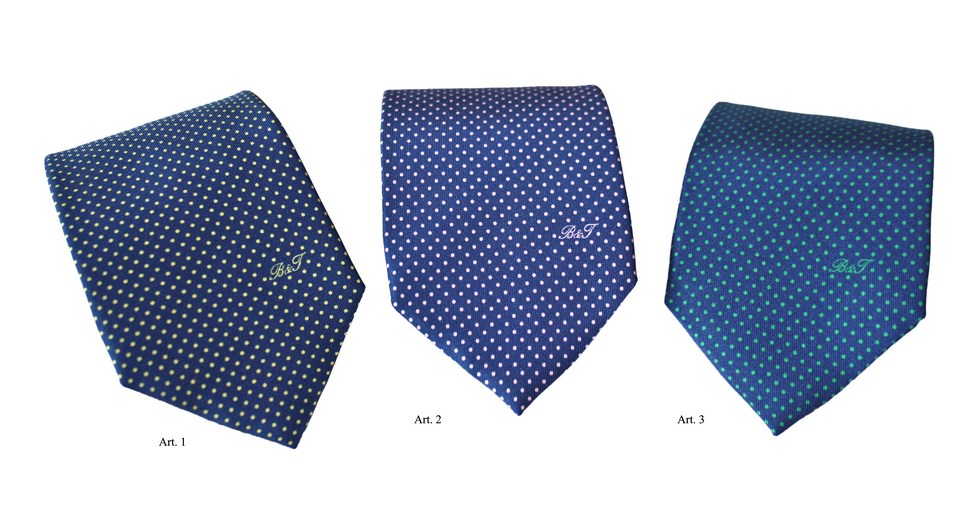 Ties polka dot silk, Barindelli and Trezzi