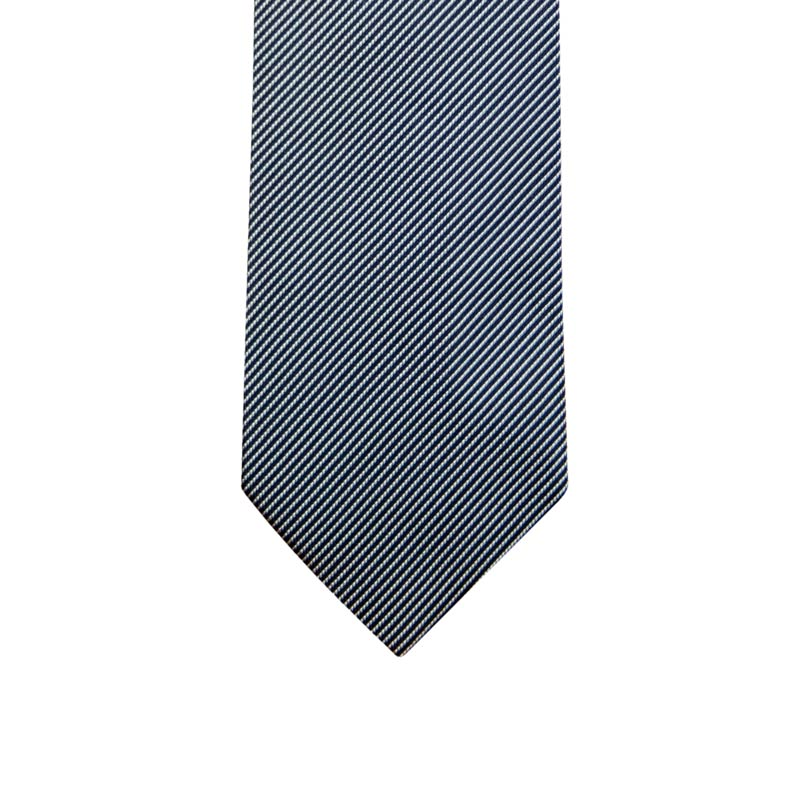 Dark oblique striped ceremony tie
