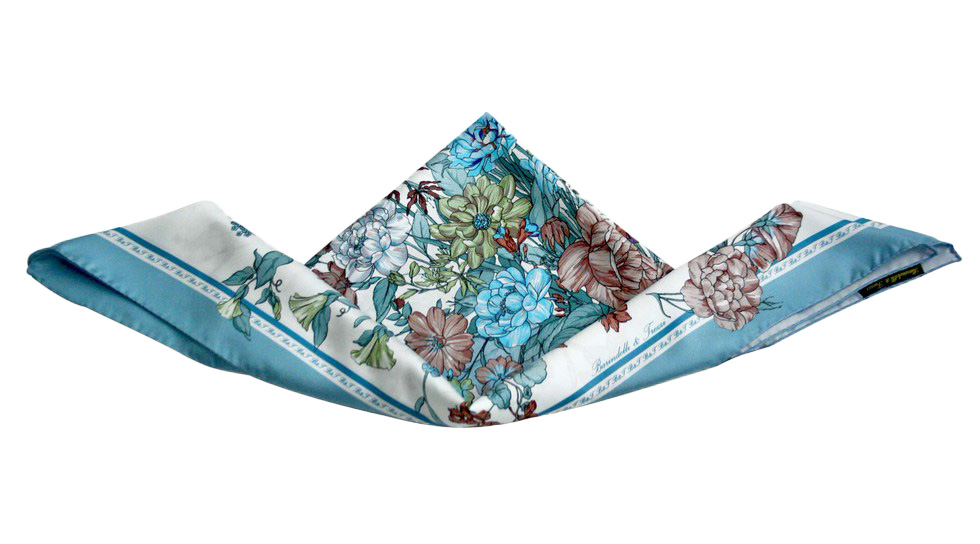 Square scarf with floral print