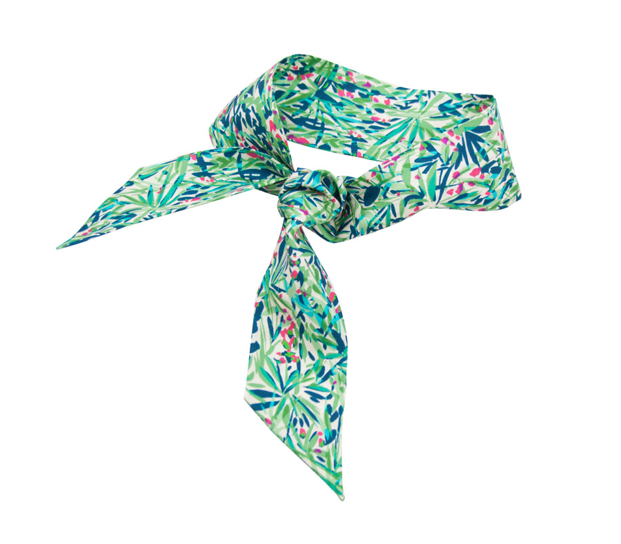 Silk bandana with nature design
